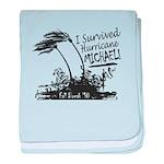 I Survived Hurricane Michael baby blanket