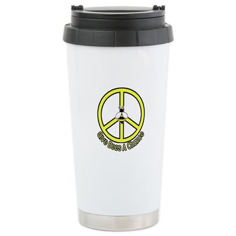 Give Bees A Chance! Stainless Steel Travel Mug