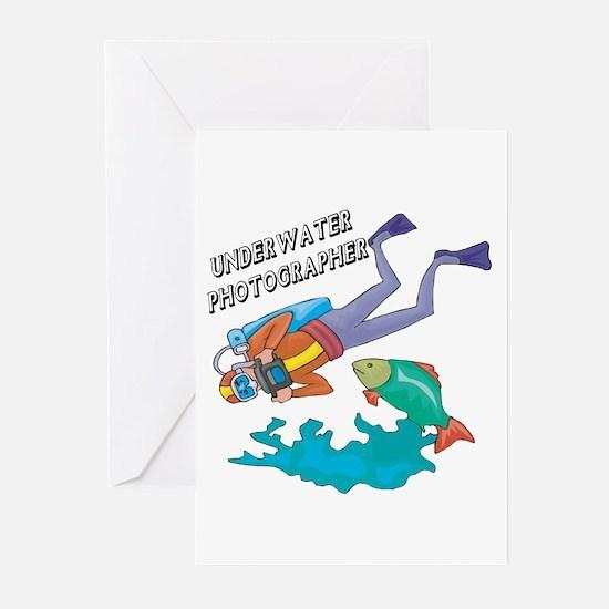 Underwater Photographer Greeting Cards (Pk of 20)