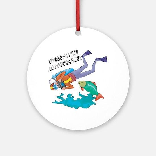 Underwater Photographer Ornament (Round)