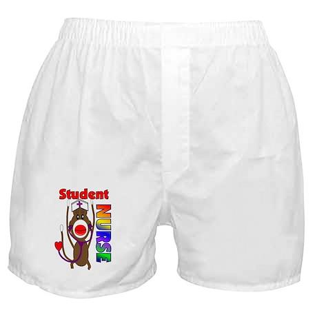 Nurse Sock Monkey Boxer Shorts
