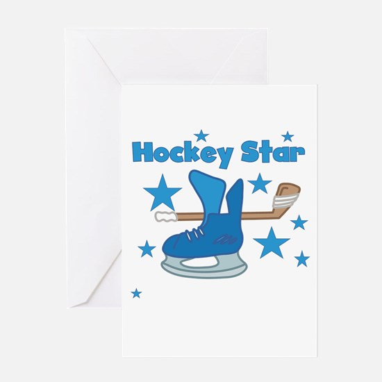 Hockey Star Greeting Card