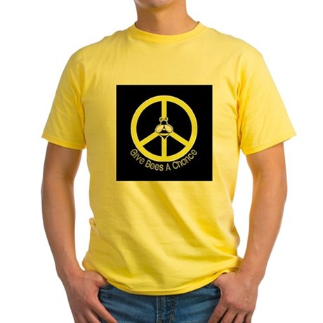 Give Bees A Chance Dark Yellow T-Shirt