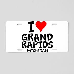 I Love Grand Rapids, Michigan Aluminum License Pla
