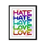 Hate2Love Framed Panel Print