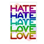 Hate2Love Postcards (Package of 8)