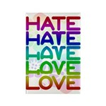Hate2Love Rectangle Magnet (100 pack)