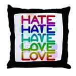 Hate2Love Throw Pillow