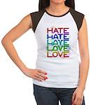 Hate2Love Women's Cap Sleeve T-Shirt