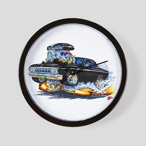 1964 Fury Black Car Wall Clock
