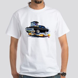 1964 Fury Black Car White T-Shirt