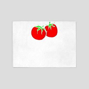 Southern Tough Tomatoes Southern Sa 5'x7'Area Rug