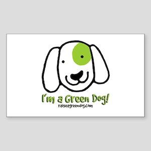 I'm a Green Dog Rectangle Sticker