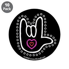 B/W Bold Love Hand Black 3.5