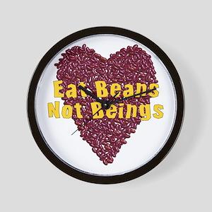 Eat Beans Not Beings Wall Clock