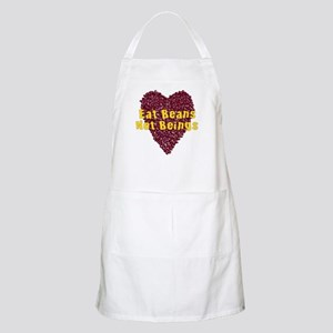 Eat Beans Not Beings Light Apron