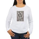 Cowgirl Pinup in Tutu Women's Long Sleeve T-Shirt