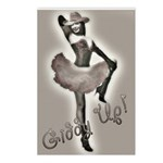 Cowgirl Pinup in Tutu Postcards (Package of 8)