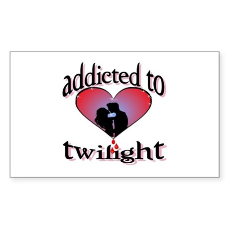 Addicted to twilight /BR Rectangle Sticker