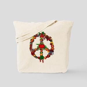 Veggie Peace Sign Tote Bag