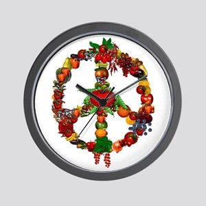 Veggie Peace Sign Wall Clock