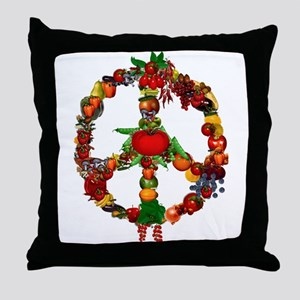 Veggie Peace Sign Throw Pillow