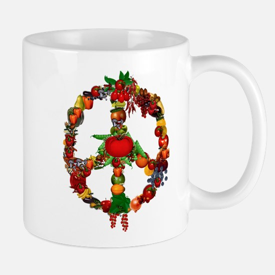 Veggie Peace Sign Mug