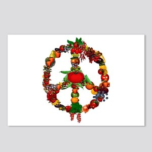 Veggie Peace Sign Postcards (Package of 8)