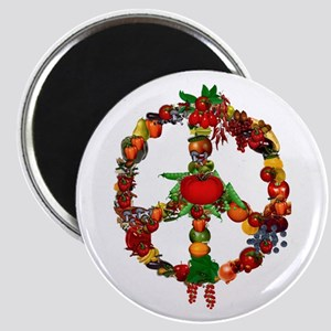 Veggie Peace Sign Magnet