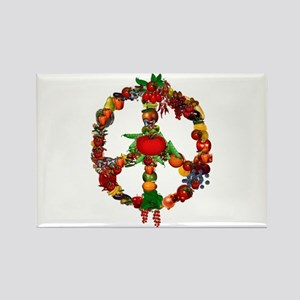 Veggie Peace Sign Rectangle Magnet