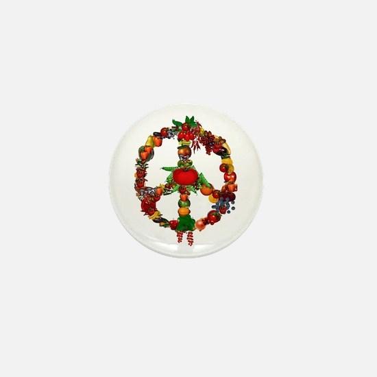 Veggie Peace Sign Mini Button