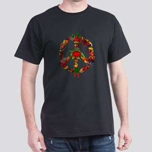 Veggie Peace Sign Dark T-Shirt