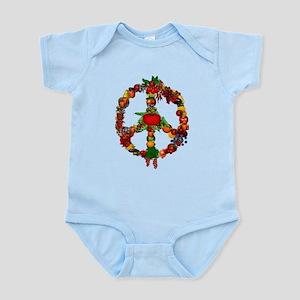Veggie Peace Sign Infant Bodysuit