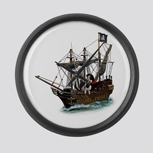 Biscuit Pirates Large Wall Clock