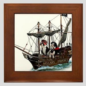 Biscuit Pirates Framed Tile