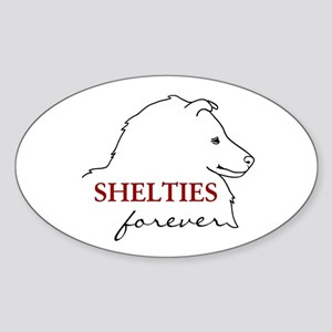 Shelties Forever Oval Sticker