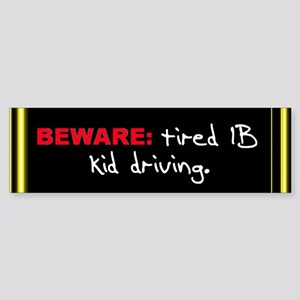 "The IB Shop ""Beware"" Bumper Sticker"