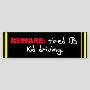 "The IB Shop ""Beware"" Bumper Sticker"