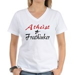 Atheist and Freethinker Women's V-Neck T-Shirt
