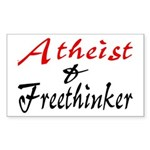 Atheist and Freethinker Rectangle Sticker