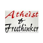 Atheist and Freethinker Rectangle Magnet