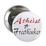 "Atheist and Freethinker 2.25"" Button"