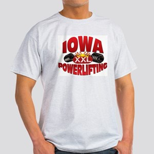 IOWA Powerlifting! Ash Grey T-Shirt