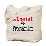 Atheist and Freethinker Tote Bag