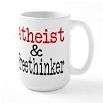 Atheist and Freethinker Large Mug