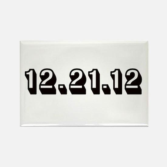 12.21.12 Black Rectangle Magnet