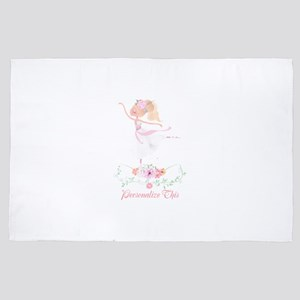 Cute Ballerina Girl Personalized 4' x 6' Rug