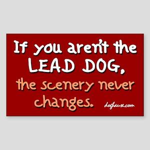 Lead Dog Alt. Rectangle Sticker