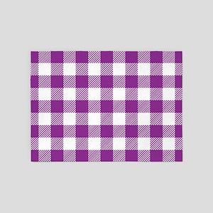 Buffalo Plaid - Purple & White 5'x7'Area Rug