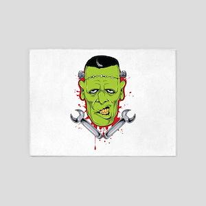 Frankenstein Mechanic 5'x7'Area Rug